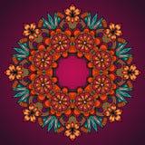 Elegante Schablonenweinlese blüht Spitzeverzierung Stockbild