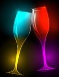 Elegante, schitterende champagneglazen vector illustratie