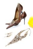 Elegante schoenen en toebehoren royalty-vrije stock afbeeldingen