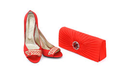 Elegante Schuhe und Fonds Stockfotos