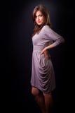 Elegante sensuele mooie jonge vrouw Royalty-vrije Stock Afbeelding