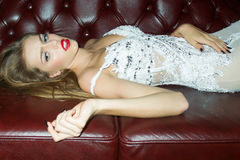Elegante sexy vrouw Royalty-vrije Stock Foto