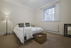 Elegante slaapkamer Stock Afbeeldingen