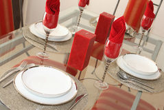 Elegante Speisetisch-Einstellung Stockbilder