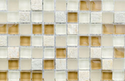 Elegante steenmuur van kleine vierkante delen Royalty-vrije Stock Foto's