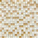 Elegante steenmuur van kleine vierkante delen Stock Fotografie