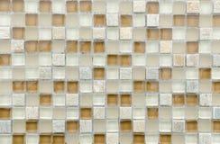Elegante steenmuur van kleine vierkante delen Stock Foto