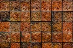Elegante Steinwand vom kleinen Quadrat Stockbilder