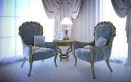 Elegante stoelen in antieke stijl Stock Afbeelding
