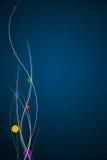 Elegante Stromende Lijnen op Blauwe Achtergrond Royalty-vrije Stock Foto