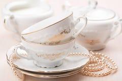 Elegante Teecup Lizenzfreies Stockfoto