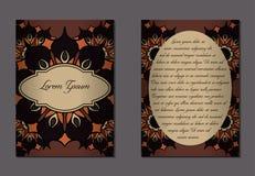 Elegante twee kanten van brochure stock illustratie