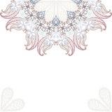 Elegante uitnodigingskaarten met bloemen Royalty-vrije Stock Afbeelding