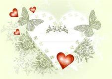 Elegante uitstekende valentijnskaartkaart Royalty-vrije Stock Foto's