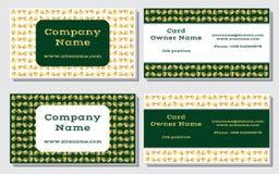 Elegante und moderne Visitenkarte Das weiter entwickelte Design Eine schöne Kombination des Goldes, des Gelbs, des weißen und Rei Stockfotos