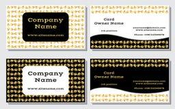 Elegante und moderne Visitenkarte Das weiter entwickelte Design Eine schöne Kombination von Gold-, Gelb-, weißen und Schwarzenfar Lizenzfreie Stockbilder