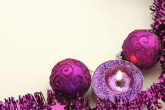 Elegante vakantiekaart in roze en room Stock Foto's
