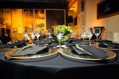 Elegante vakantielijst, catering, creatieve benadering van de gebeurtenis Stock Afbeeldingen