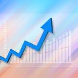 Elegante variopinto del grafico del mercato azionario su fondo astratto Fotografia Stock Libera da Diritti