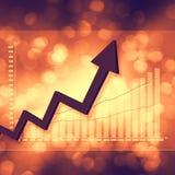 Elegante variopinto del grafico del mercato azionario su fondo astratto Immagine Stock