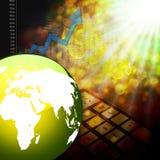 Elegante variopinto del grafico del mercato azionario su fondo astratto Fotografie Stock