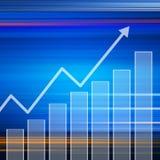 Elegante variopinto del grafico del mercato azionario su fondo astratto Fotografia Stock