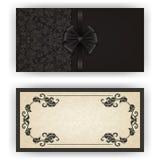 Elegante Vektorschablone für Luxuseinladung, Lizenzfreie Stockfotografie