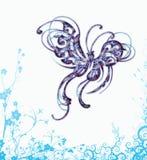 Elegante vlindervector Royalty-vrije Stock Foto's