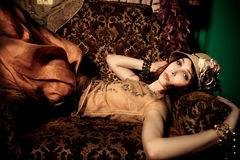 Elegante vrouw stock afbeelding