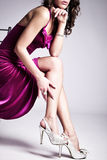 Elegante vrouw Stock Foto