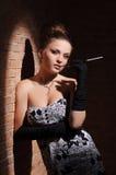Elegante vrouw. royalty-vrije stock fotografie