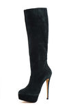 Elegante vrouwelijke geïsoleerde laarzen Stock Fotografie