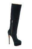 Elegante vrouwelijke laarzen met een hoge geïsoleerde hiel Royalty-vrije Stock Afbeelding