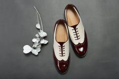 Elegante vrouwelijke schoenen met een gevoelige bloem Royalty-vrije Stock Foto