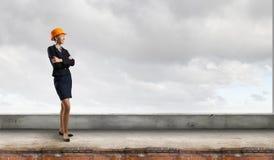 Elegante vrouweningenieur Gemengde media Royalty-vrije Stock Foto