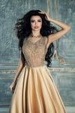 Elegante Vrouwenmannequin Wearing Evening Gown stock afbeeldingen