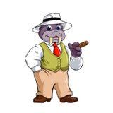 Elegante walrus met sigaar Stock Foto