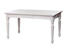 Elegante weiße Tabelle, mit Ausschnittspfad stockfotos