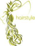 Elegante weibliche Frisur. Ikone für Entwurf stock abbildung