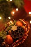 Elegante Weihnachtsdekoration Stockbilder