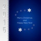 Elegante Weihnachtsgrußkarte Stockbilder