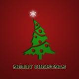 Elegante Weihnachtskarte Stockfoto