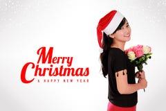 Elegante Weihnachtskarte Lizenzfreies Stockbild