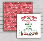 Elegante Weihnachtskarte mit einem Umschlag stock abbildung