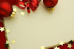Elegante Weihnachtskarte Stockfotos