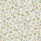 Elegante Weinlese-Blumenmuster - Vector Hintergrund eps10 Stockbild