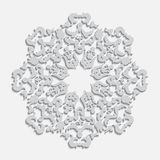 Elegante Winterschneeflocken-Vektorpapierikone stockfotografie