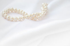 Elegante witte achtergrond met kant Royalty-vrije Stock Foto