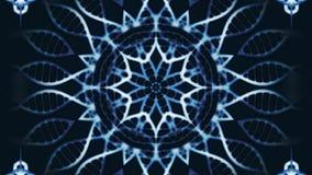 Elegante Zaubermandala-Blumenpartikel Wiedergabe 3d Stockfotografie