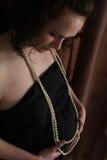 Elegante zwangerschap Royalty-vrije Stock Fotografie